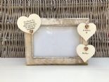 Shabby personalised Chic Photo Frame In Memory Of Mum Mam Mom Mummy Or Any Name - 332867202167
